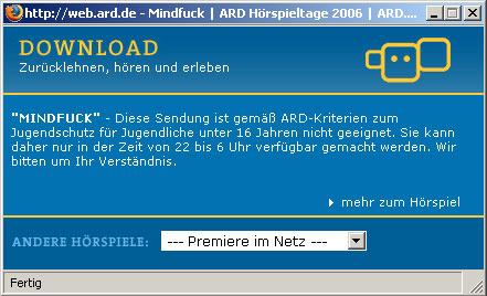 unerlaubter ARD Download