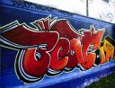 beat it graffiti beim flex