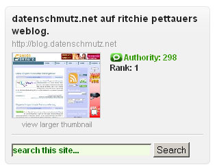 Technorati-Blogkette: Wir alle waren [kurz] #1
