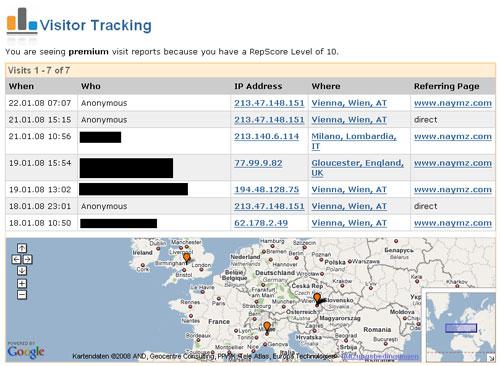 naymz tracking
