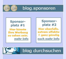 Blog.Werbung: Sponsoren für datenschmutz gesucht