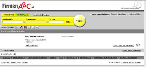 .at-Branchenbücher im SEO Vergleich: FirmenABC.at