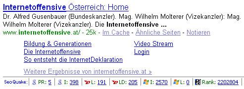 Neues von der Internet-Offensive Österreich