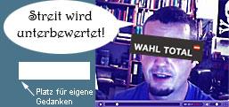 Wahl.Qual: Politikern Löcher in Bäuche fragen...