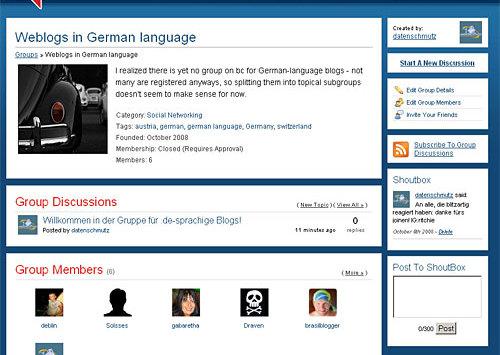 Mitglieder gesucht: deutschsprachige Blogs auf Blogcatalog