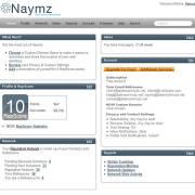 Redesign und neues Dashboard bei Naymz.com