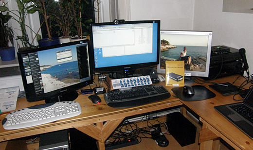 3-Monitor-Betrieb