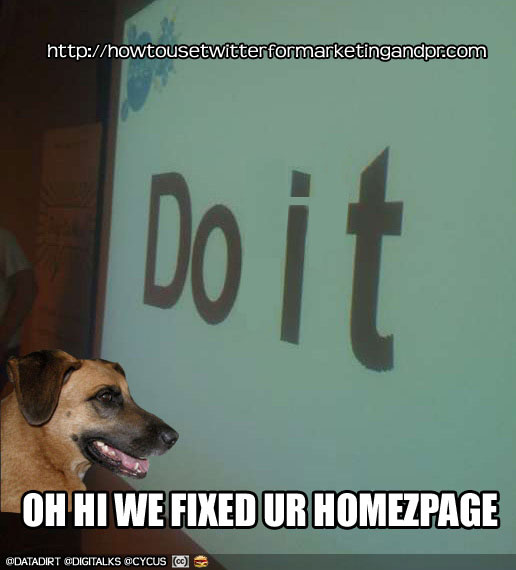 hi we fixed ur homezpage