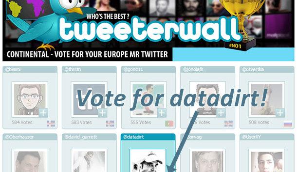 Herr Twitter Europa: Bitte um Ihre Stimme