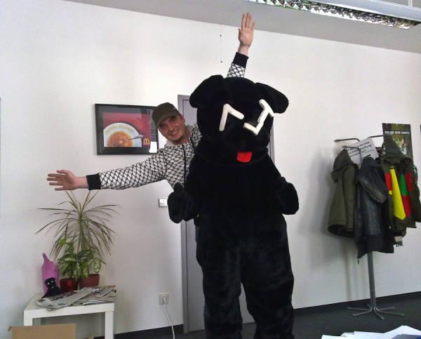 Ritchie mit ATV Hund