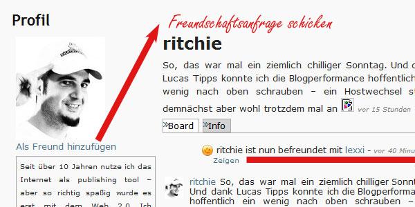 datenschmutz Registierung - Profilpage
