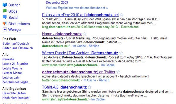 Google Redesign: neue Suchmaske mit Seitenleiste