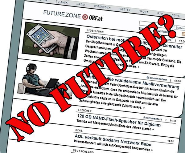 Keine Zukunft für die Futurezone?