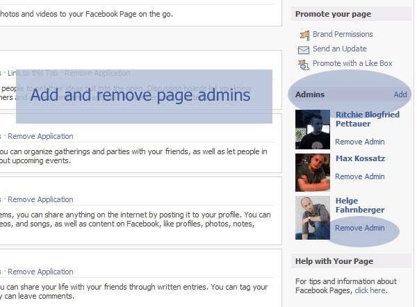 Facebook Page - Admins hinzufügen und entfernen
