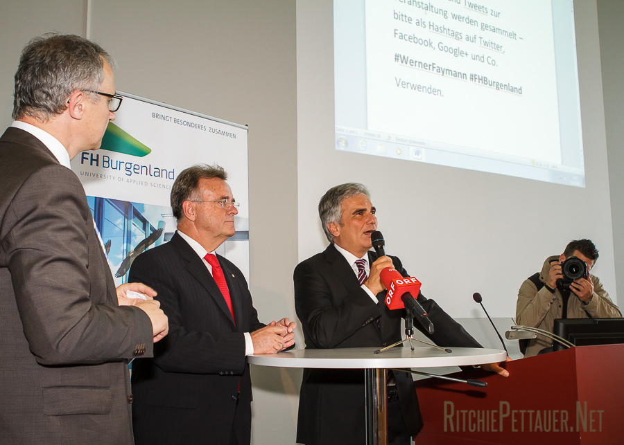Georg Pehm, Hans Niessl, Werner Faymann