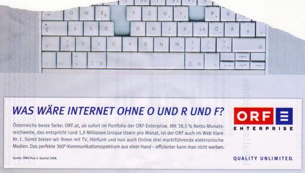 Was wäre die Mediaplanung ohne das staatliche Internet?