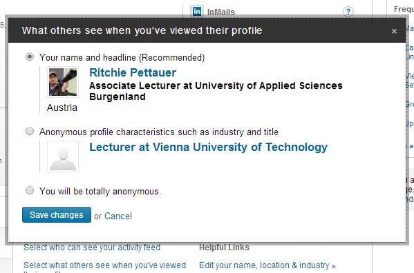 LinkedIn Profile anonym besuchen