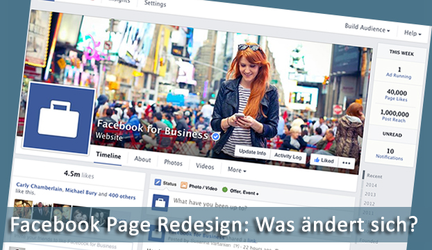 Facebook Seiten im neuen Design