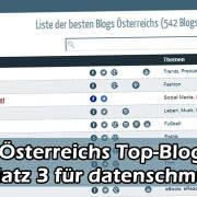 Österreichs Topblogs - Platz 3 für datenschmutz