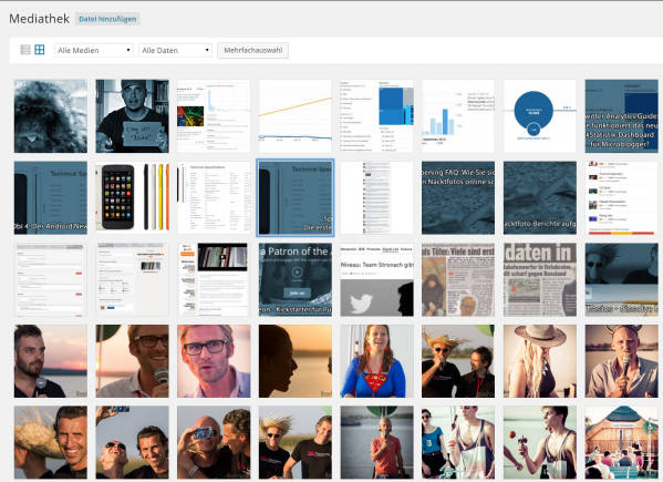 WordPress 4.0 Mediabrowser