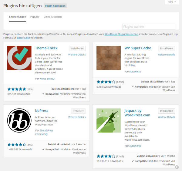 WordPress 4.0 - Plugin Browser