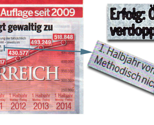 Österreich: Methodisch nicht vergleichbar