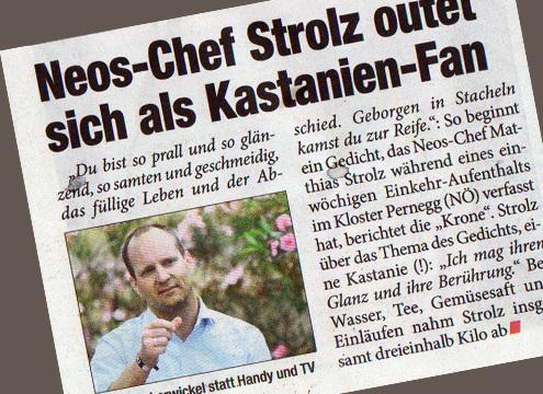 Matthias Strolz teilt Einläufe mit Wählerschaft