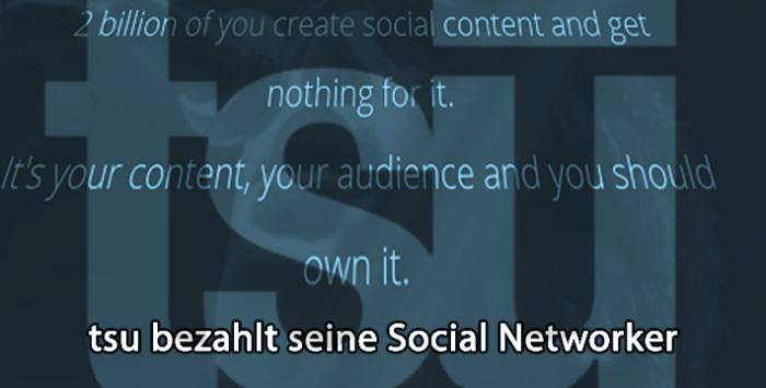 tsu bezahlt Social networker