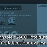 250 Euro Hotelgutschein gewinnen