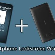 Smpartphone Lockscreen vCard