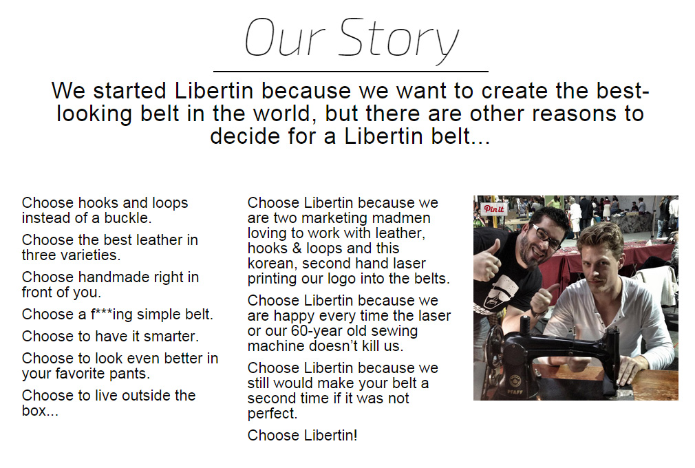 Libertin Klettverschluss Gürtel