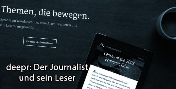 deepr - Crowdfunding für Reportagen
