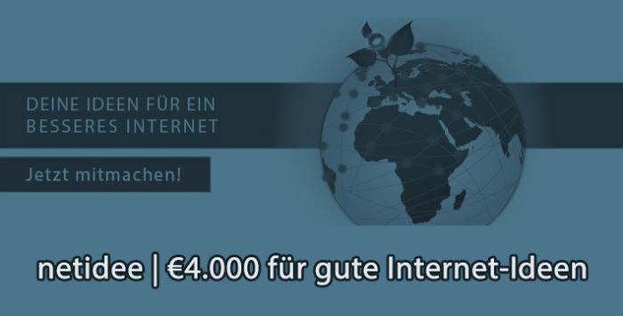 netidee Wettbewerb: Wir bezahlen für gute Internet-Ideen