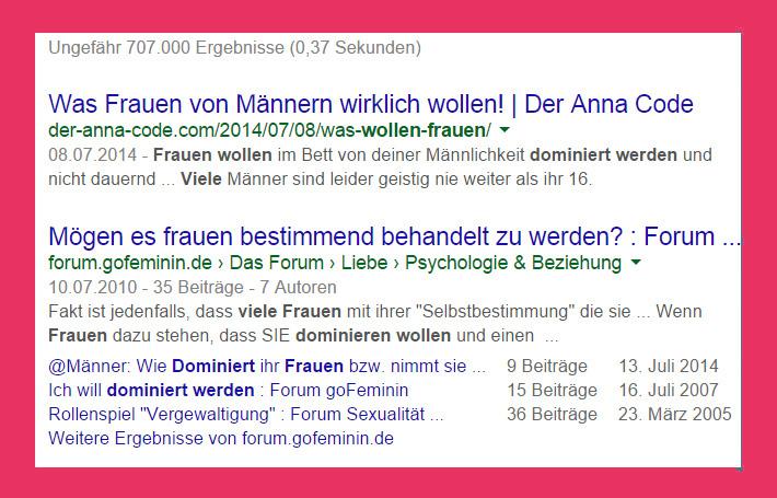 Google weiß alles über Frauen