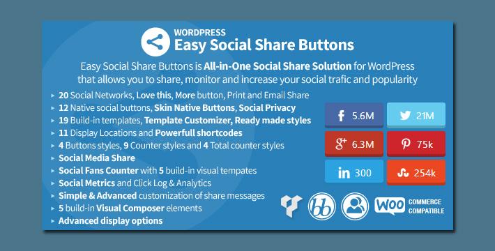 Die umfangreichste Social Sharing Lösung