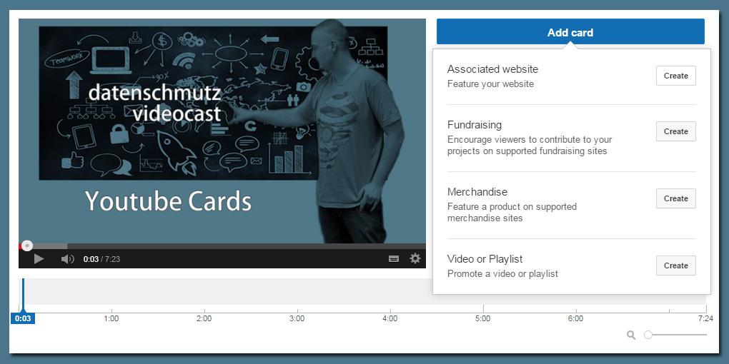 Youtube Infokarten - auch mehrere pro Video sind möglich.