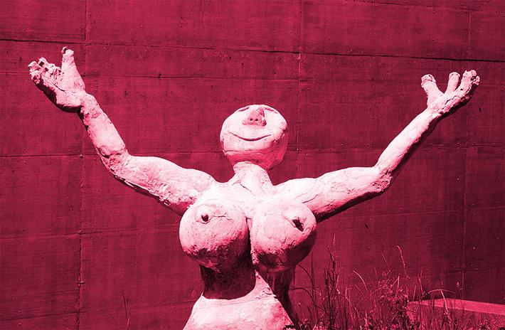 Selfies: auch bei antiken Statuen sehr beliebt.