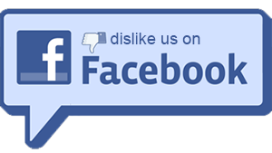 Dislike us on Facebook