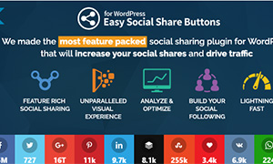 Easy Social Share Buttons | Premium WordPress Plugin