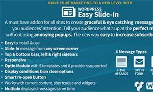 Easy SlideIn | | Premium WordPress Plugin