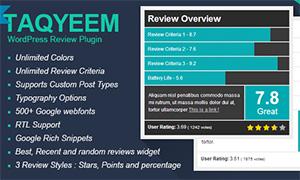 Taqyeem | | Premium WordPress Plugin