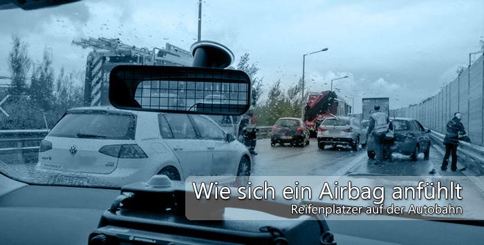 Reifenplatzer Auto