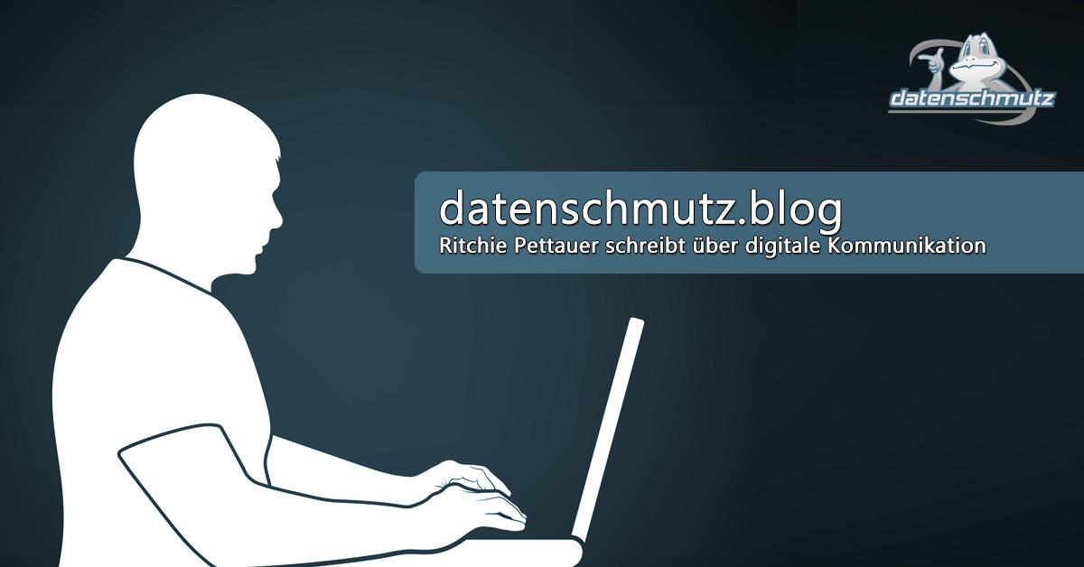 datenschmutz blog Screenshot
