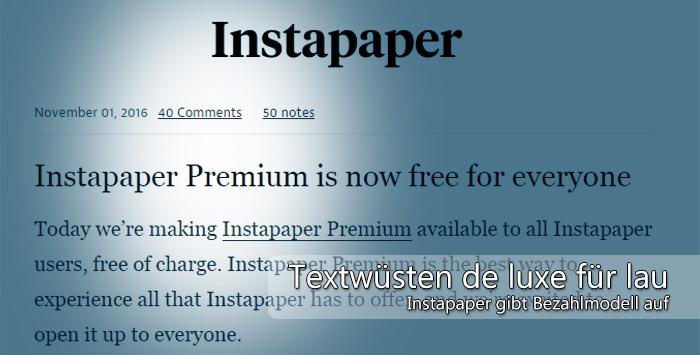 Instapaper: Pinterest schenkt uns ab sofort die Premium-Version