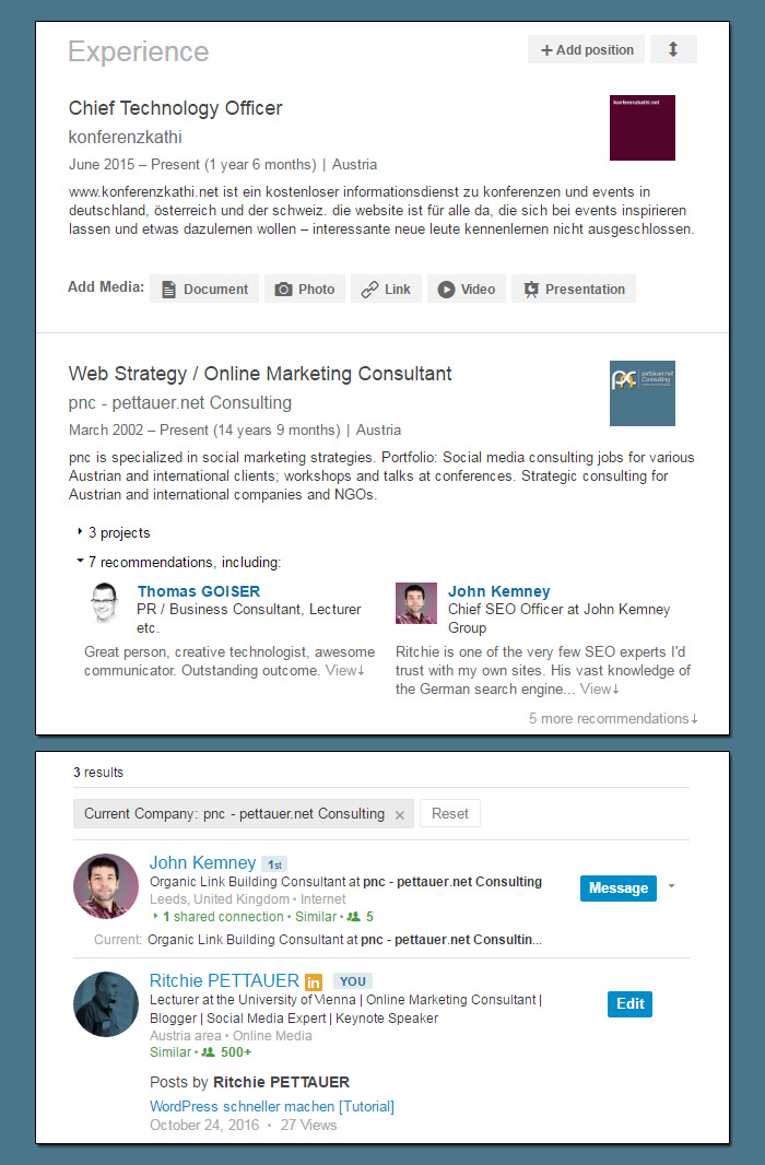 Company Pages auf LinkedIn