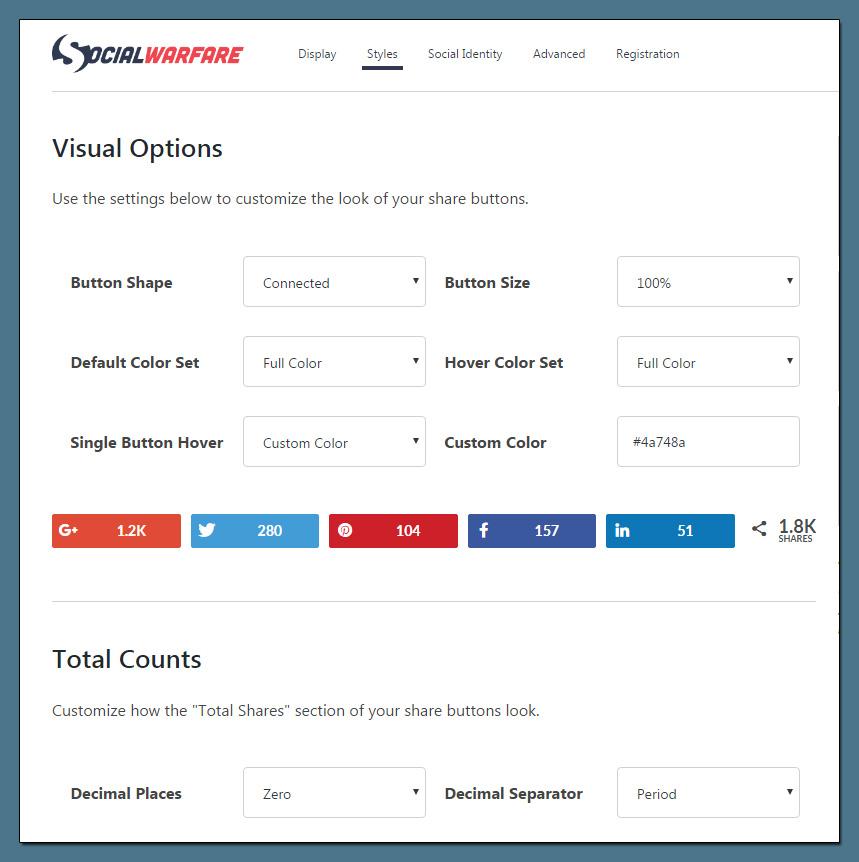 Die Design-Optionen ermöglichen über 5.000 verschiedene Kombinationen.