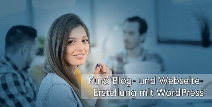 Blog- und Website-Erstellung mit Wordpress