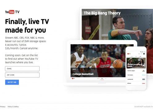 Youtube startet mit Fernseh-Streaming