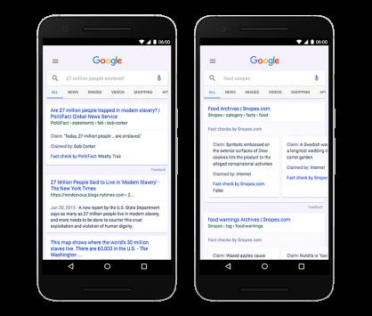 Fact oder Fake? Newscheck jetzt auch im Google-Index verfügbark
