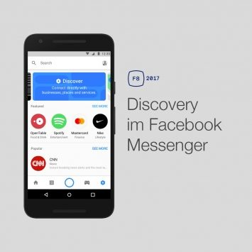 Facebook Messenger: Neue Bot Discovery Funktion